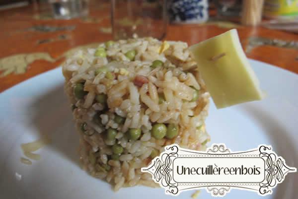 riz cantonais drapeau de fromage