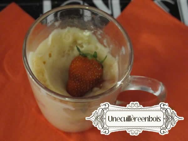 mug cake fraise