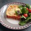 Lasagnes de cabillaud, chorizo doux et légumes