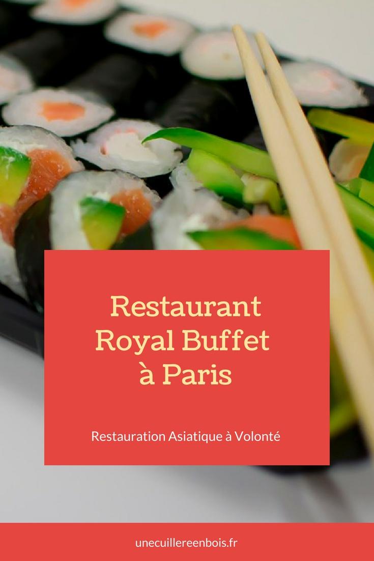 Asie Royale Carte.Restaurant Royal Buffet A Paris Restauration Asiatique A