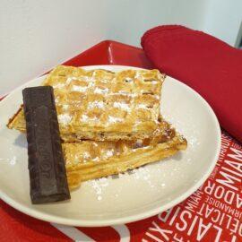 gaufres waffles au chocolat