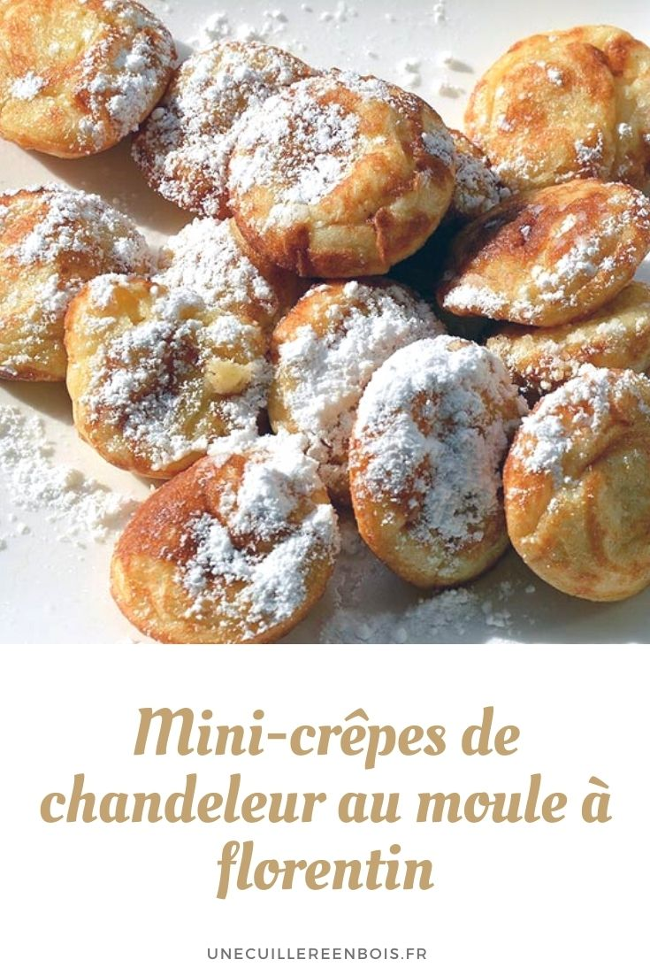 Mini candlestick pancakes with florentine mold