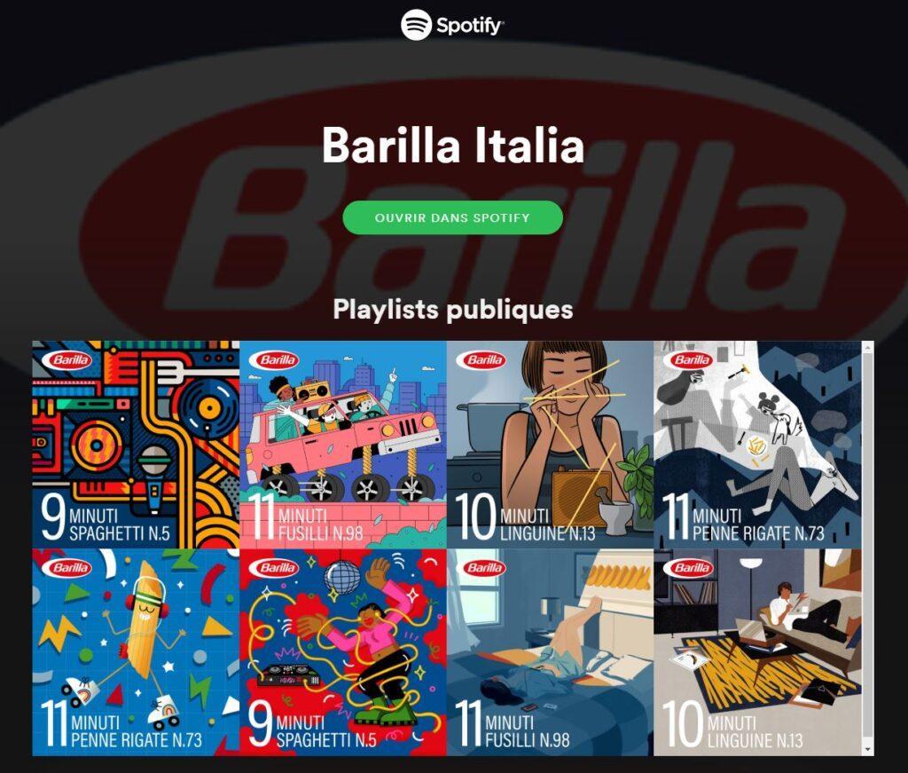 Barrilla créé des Spotify pour cuire vos pâtes durant le temps des musiques
