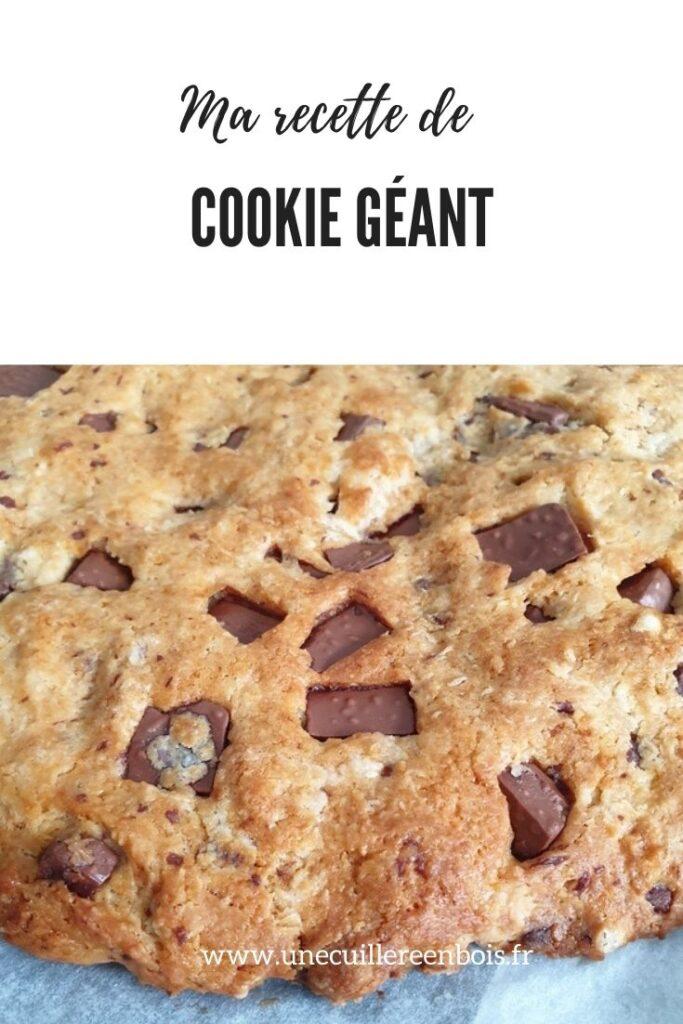 recette de cookie géant