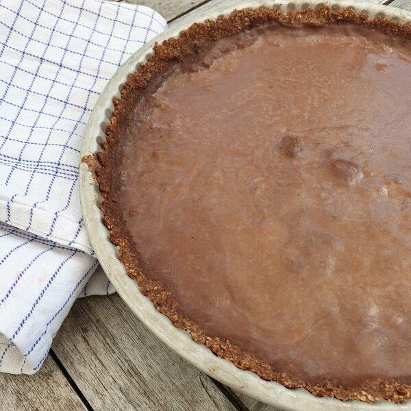 tarte sablée amandes et chocolat