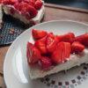 Cheesecake à la fraise et sans cuisson